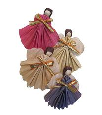 Tiny Fragile Winged Angels Made From Rice Paper Set of 4
