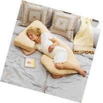 Today's Mom Cozy Cuddler Pregnancy Pillow, Almond