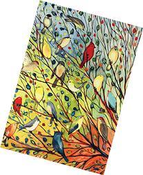 Toland Home Garden Tree Birds 12.5 x 18 Inch Decorative