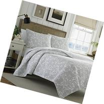 Tommy Bahama Island Memory Gray Quilt Set, King, Pelican