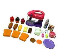 Toy Kitchen 22 Piece Set - 1 Motorized Mixer - 21 Play Food