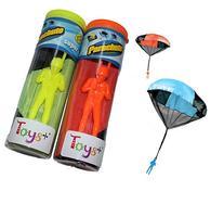 Toy Skydiver Parachute Men 2 Piece Set- Tangle Free
