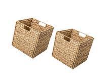 Trademark Innovations Foldable Hyacinth Storage Basket with