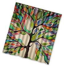 "Tree of Life Gorgeous Like Leather 66"" x 72"" Bath Shower"