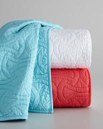 Trina Turk Santorini King Quilted Coverlet Turquoise Blue