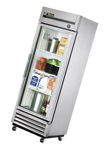 True Mfg T-19G, 1 Door, 19 cu ft Glass Door Refrigerator