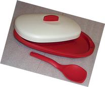 Tupperware Red Legacy Serving Platter with Red Spoon