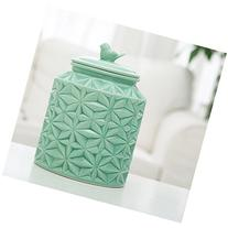 Turquoise Vintage Ceramic Kitchen Flour Canister / Cookie