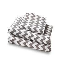 Twin Sheet Set Gray Chevron - Double Brushed Ultra