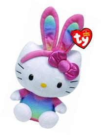 Ty Beanie Babies Hello Kitty Rainbow Bunny Ears Plush