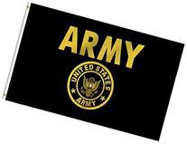 US Army Flag 3x5 New U S Military Gold w/Crest