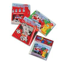 US Toy Assorted Fireman Fire Engine Mini Coloring Books