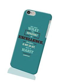 Unique 3D iPhone 6 Case - Aristotle quote Photo Image