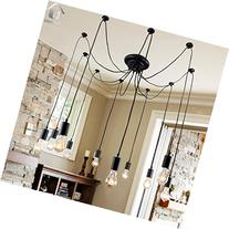 Unitary Brand Antique Black Large Barn Chandelier with 10