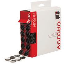 """VELCRO Brand - Sticky Back - 3/4 """" Coins, 200 Sets - Black"""