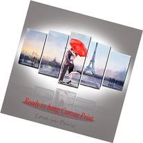 Valentine's Gift Honest Canvas Prints Love in Paris 5 Panels