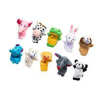 Velvet Cute Animal Style Finger Puppets for Children, Shows