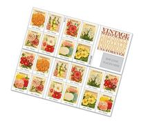 Vintage Seed Packets Sheet of 20 x Forever U.S. Postage