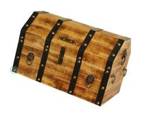 Vintiquewise Large Wooden Pirate Lockable Trunk with Lion