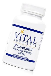 Vital Nutrients - Resveratrol 500 mg - Ultra High Potency -