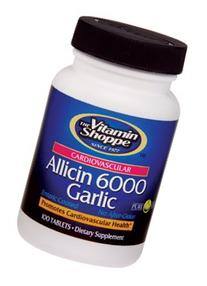 the Vitamin Shoppe Allicin 6000 Garlic 100 Caplets