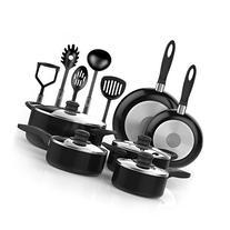 Vremi 15 Piece Nonstick Cookware Set - Kitchen Pots and Pans