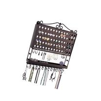 Wall Mount Jewelry Organizer Hanging Earring Holder Necklace