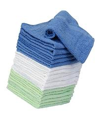 Washcloth Towels - 100 Percent Cotton - 18 Pack - 6 White