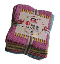 Washcloths by Living Fashions, 12 Pack, 100% Extra Soft Ring