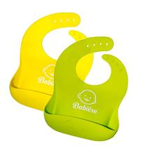 Waterproof Silicone Bib with Snaps & Crumb Catcher by Babié