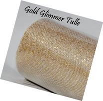 Wedding GLITTER Tulle Roll 6in x 30ft GOLD Sparkling Tulle