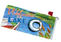 """ Welcome to the Lake "" - Decorative Mailbox Makeover -"