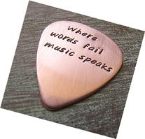 Where words fail music speaks, Personalized Copper Guitar