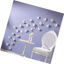 White 24PCS 3D Butterfly Wall Stickers Decor Art Decorations