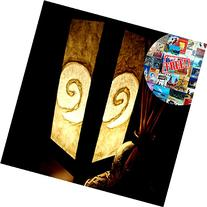 White Spiral Mulberry Paper Table Lamp Lighting Shades Floor