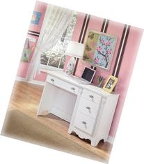White Youth Bedroom Desk