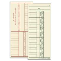 Wholesale CASE of 10 - Tops 2-Sided Weekly Time Cards-Weekly