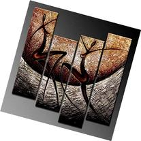 Wieco Art African Dancers Abstract Oil Paintings on Canvas