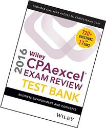 Wiley CPAexcel Exam Review 2016 Test Bank: Business