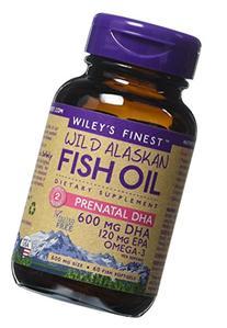 Wiley's Finest - Wild Alaskan Fish Oil: Prenatal DHA 600mg