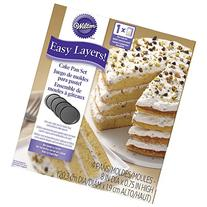 Wilton 2105-0188 4 Piece Easy Layers Round Cake Pan Set, 8
