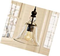WINSOON Ecopower 1 Light Vintage Hanging Big Bell Glass
