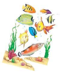 Eureka Window Cling Fish 12 X 17