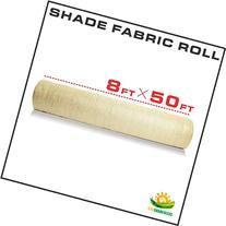 Windscreen4less Shade Fabric Roll 95% Uv Block 8'x50' Beige