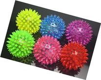 Wish Dayz 6pcs Colors Elastic Light-up Spike Ball with LED