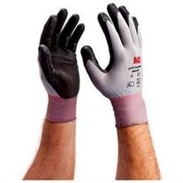 With a nitrile palm coating over a breathable nylon stretch