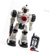 WolVol Remote Control Robot Police Toy with Flashing Lights