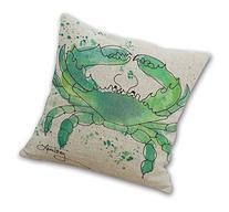 Wonder4 Throw Pillow Case, Green Crabs Decorative Pillow