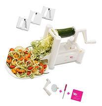 WonderVeg Vegetable Spiralizer - Tri Blade Spiral Slicer