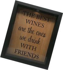 Wooden Shadow Box Wine Cork/Bottle Cap Holder 9x11 - The